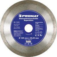 NORDWEST-PROMAT-Trenn-Flex-Schrupp-Scheiben, Diamant-Trennscheibe D.180mm Bohrung 25,4/22,23mm Fliesen 7mm