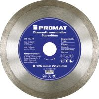 NORDWEST-PROMAT-Trenn-Flex-Schrupp-Scheiben, Diamant-Trennscheibe D.230mm Bohrung 22,23mm Fliesen 7mm
