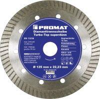 NORDWEST-PROMAT-Trenn-Flex-Schrupp-Scheiben, Diamant-Trennscheibe Turbo-Top D.125mm Bohrung 22,23mm superdünn 10mm