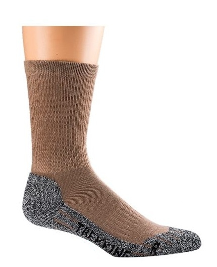 WOWERAT-COOLMAX-Trekking-Arbeits-Berufs-Socken, Funktions-Sportsocken, khaki
