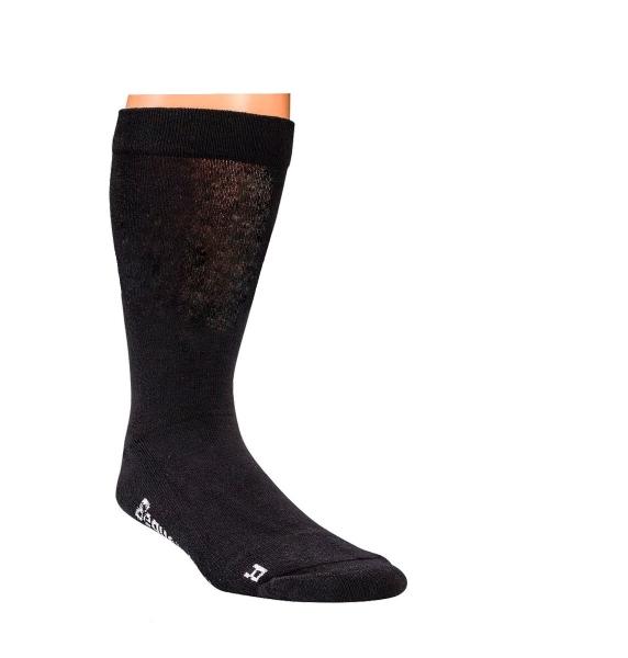 WOWERAT-Gesundheits-Arbeits-Berufs-Socken, mit Polstersohle, extra Breit, Pkg. á 2 Paar, schwarz