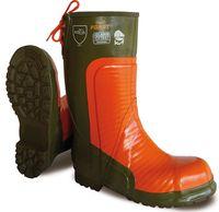 NORA-Sicherheits-Gummi-Stiefel, Forst Super-Safety, oliv-orange, S5