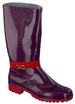 SPIRALE-Nora-Damen-Freizeit-Gummi-Stiefel, New Fashion, rot