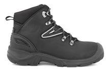 SANITA-Arbeits-Berufs-Sicherheits-Schuhe, Schnürstiefel, Colorade, S3, schwarz