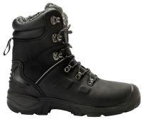 SANITA-Arbeits-Berufs-Sicherheits-Schuhe, Schnürstiefel, Canyon, S3, mit Webpelzfutter, schwarz