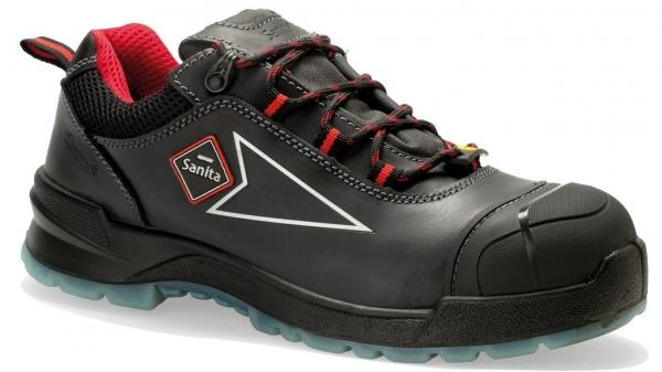 SANITA-Sicherheits-Arbeits-Berufs-Schuhe, Halbschuhe, Antrazite, S3, ESD, schwarz