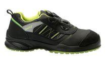 SANITA-Sicherheits-Arbeits-Berufs-Schuhe, Halbschuhe, Thulitstone, S3, ESD, schwarz/grün