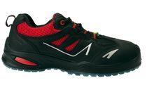 SANITA-Sicherheits-Arbeits-Berufs-Schuhe, Halbschuhe, Gemstone, S1P, ESD, schwarz/rot