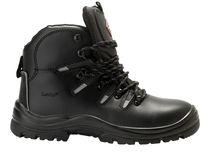 SANITA-Arbeits-Berufs-Sicherheits-Schuhe, Schnürstiefel, Fenite, S3, schwarz