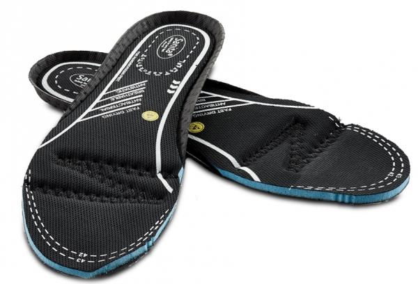 SANITA-Schuh-Zubehör, Einlegesohlen, Sanita memory foam, schwarz/blau