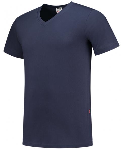 TRICORP-T-Shirts, V-Ausschnitt, Slim Fit, 160 g/m², dunkelblau