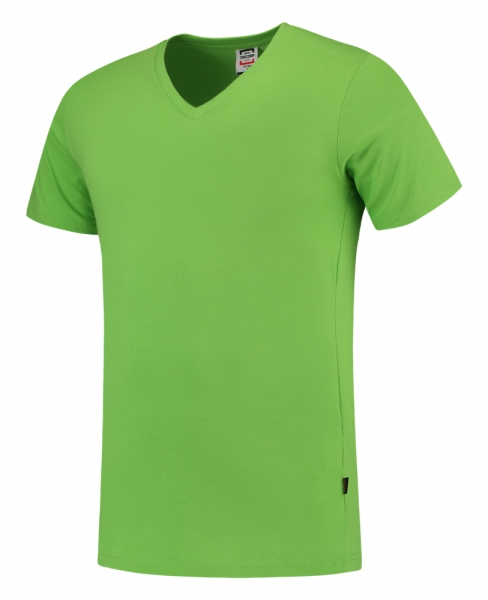 TRICORP-T-Shirts, V-Ausschnitt, Slim Fit, 160 g/m², lime