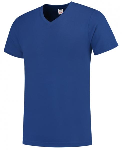 TRICORP-T-Shirts, V-Ausschnitt, Slim Fit, 160 g/m², royalblau
