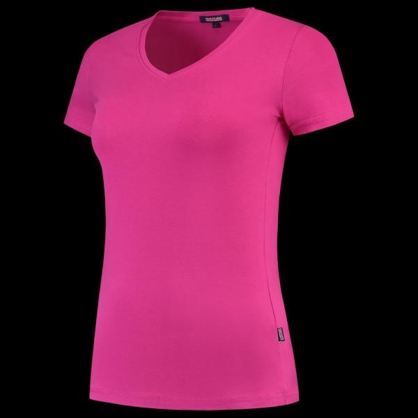 TRICORP-Damen-T-Shirts, V-Ausschnitt, 190 g/m², fuchsia