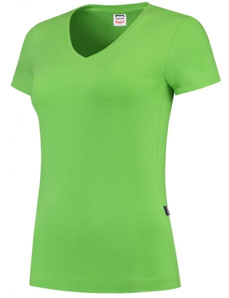 TRICORP-Damen-T-Shirts, V-Ausschnitt, 190 g/m², lime