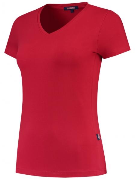 TRICORP-Damen-T-Shirts, V-Ausschnitt, 190 g/m², red