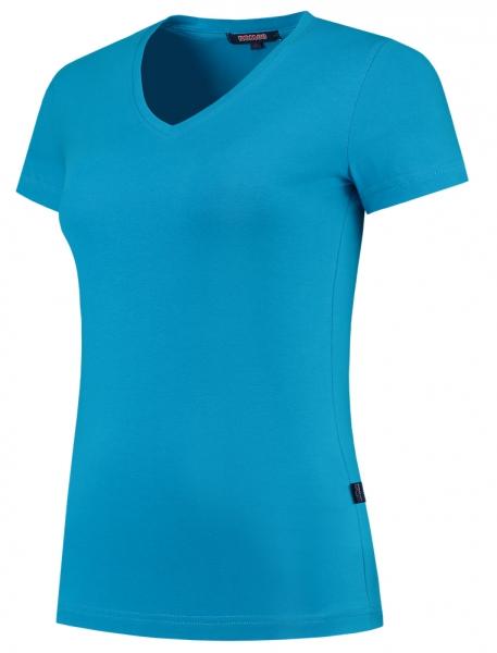 TRICORP-Damen-T-Shirts, V-Ausschnitt, 190 g/m², turquoise