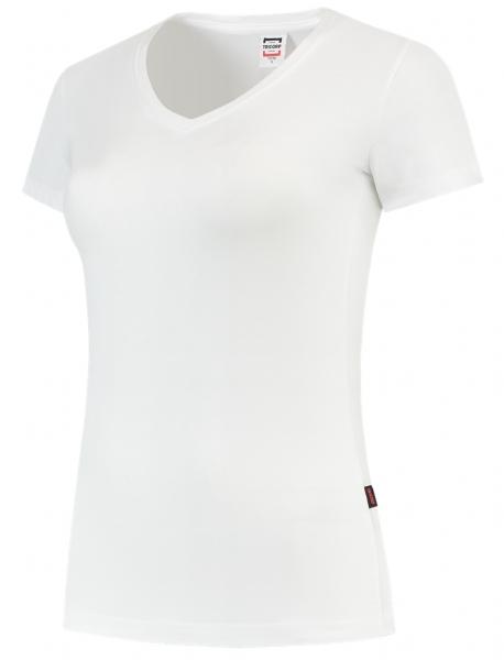 TRICORP-Damen-T-Shirts, V-Ausschnitt, 190 g/m², weiß