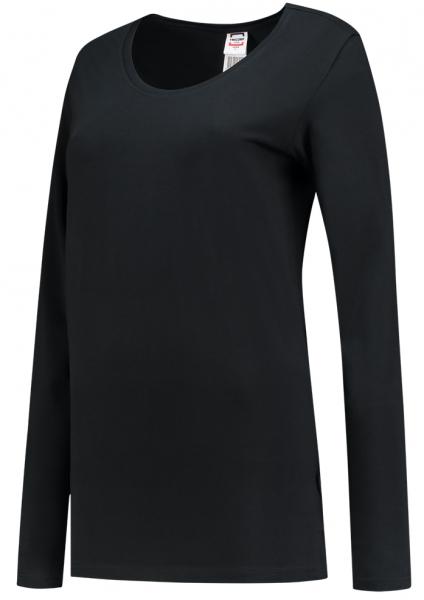 TRICORP-Damen-T-Shirts, langarm, 190 g/m², black