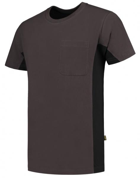 TRICORP-T-Shirt, mit Brusttasche, Bicolor, 190 g/m², darkgrey-black