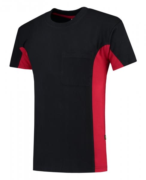 TRICORP-T-Shirt, mit Brusttasche, Bicolor, 190 g/m², navy-red