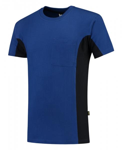 TRICORP-T-Shirt, mit Brusttasche, Bicolor, 190 g/m², royalblue-navy