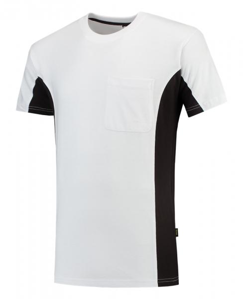 TRICORP-T-Shirt, mit Brusttasche, Bicolor, 190 g/m², white-darkgrey
