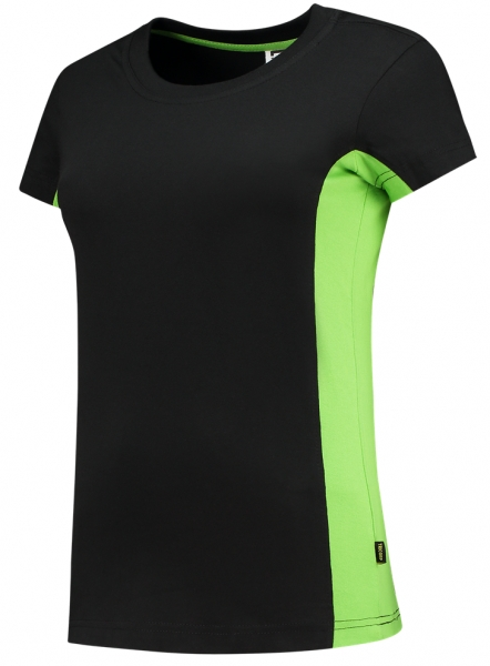 TRICORP-Damen-T-Shirt, Bicolor, 190 g/m², black-lime