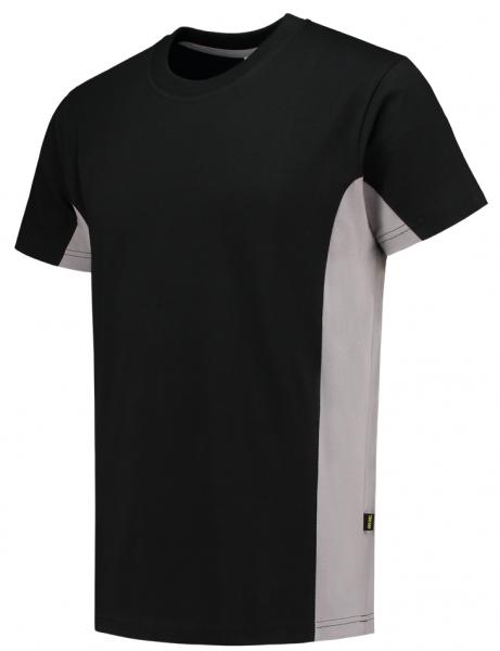 TRICORP-T-Shirt, Bicolor, 190 g/m², black-grey