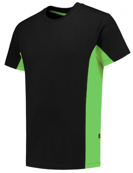 TRICORP-T-Shirt, Bicolor, 190 g/m², black-lime