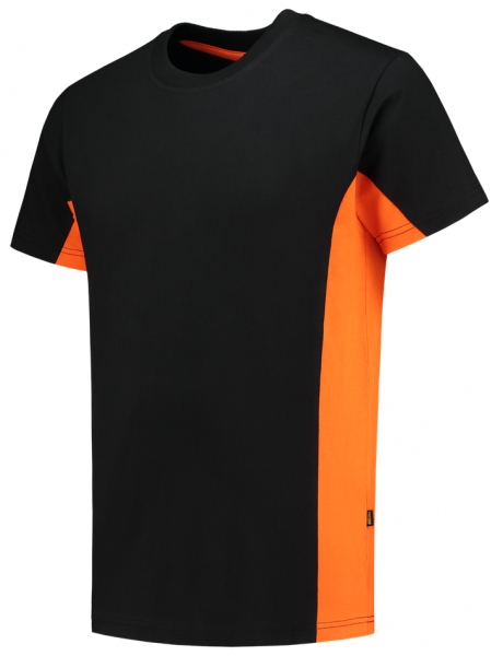 TRICORP-T-Shirt, Bicolor, 190 g/m², black-orange