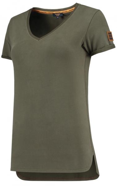 TRICORP-Damen-T-Shirts, Premium, V-Ausschnitt, 180 g/m², army