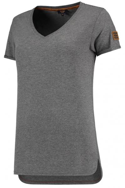 TRICORP-Damen-T-Shirts, Premium, V-Ausschnitt, 180 g/m², stonemel
