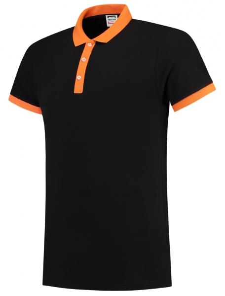 TRICORP-Poloshirts, Bicolor, 210 g/m², schwarz/orange
