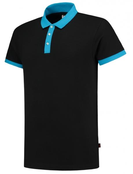 TRICORP-Poloshirts, Bicolor, 210 g/m², schwarz/turquoise