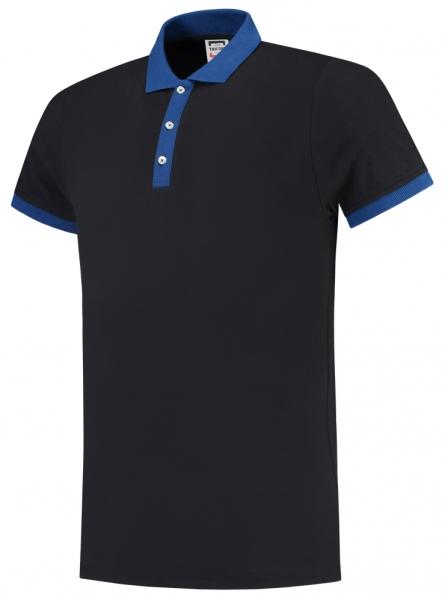 TRICORP-Poloshirts, Bicolor, 210 g/m², navy/royalblau