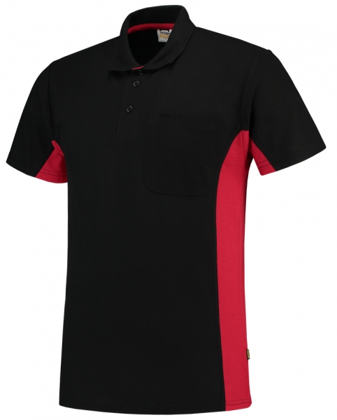 TRICORP-T-Shirt, mit Brusttasche, Bicolor, 180 g/m², black-red