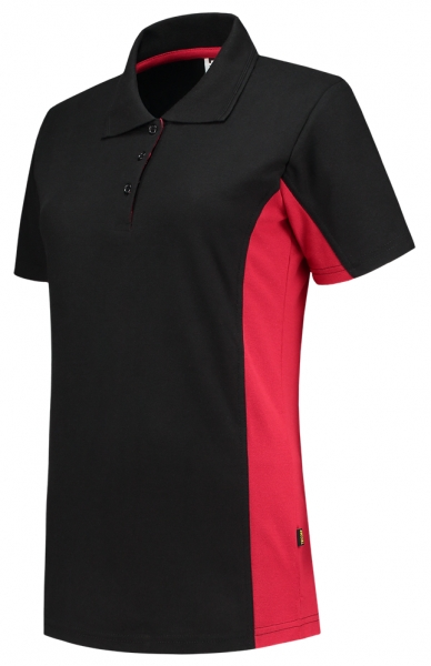 TRICORP-Damen-T-Shirt, Bicolor, 180 g/m², black-red