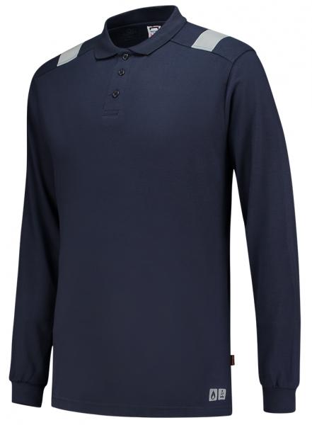 TRICORP-Warn-Schutz-Poloshirt, Multinorm, langarm, 200 g/m², dunkelblau