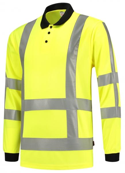 TRICORP-Warn-Schutz-Poloshirt, langarm, 180 g/m², warngelb