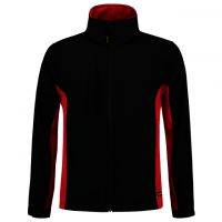 TRICORP-Softshelljacke, Bicolor, 340 g/m², black-red