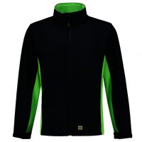 TRICORP-Softshelljacke, Bicolor, 340 g/m², navy-lime