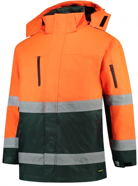 TRICORP-Parka EN ISO 20471 Bicolor, Basic Fit, 200 g/m², fluor orange-green