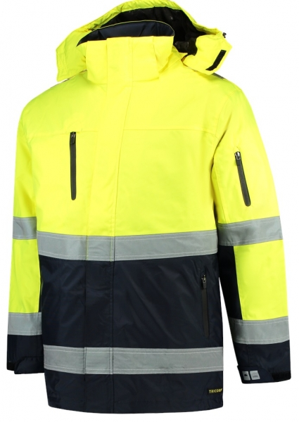 TRICORP-Parka EN ISO 20471 Bicolor, Basic Fit, 200 g/m², fluor yellow-navy