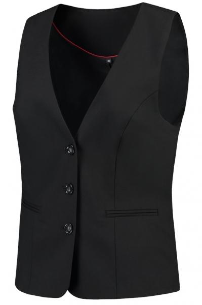 TRICORP-Damen-Arbeits-Berufs-Weste, Basic Fit, 180 g/m², black
