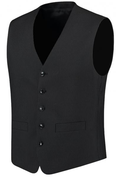 TRICORP-Herren-Arbeits-Berufs-Weste, Basic Fit, 180 g/m², black-stripe