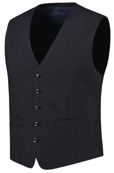 TRICORP-Herren-Arbeits-Berufs-Weste, Basic Fit, 180 g/m², navy-stripe