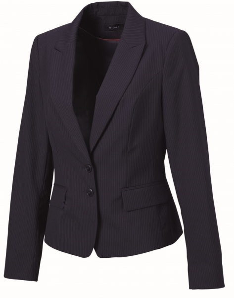 TRICORP-Blazer Damen, Basic Fit, 270 g/m², navy-stripe