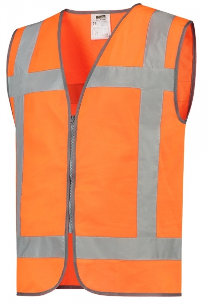 TRICORP-Warnweste RWS, Reißverschluss, Basic Fit, 130 g/m², orange