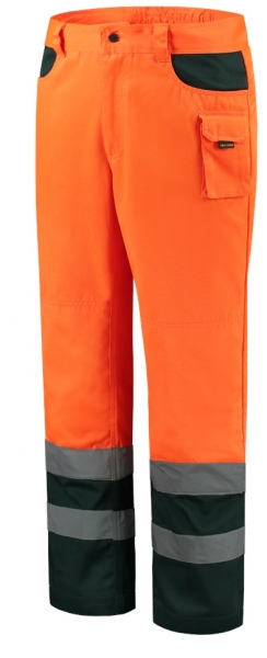 TRICORP-Arbeits-Berufs-Bund-Hose, EN ISO 20471, Bicolor, Basic Fit, 280 g/m², fluor orange-green